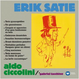 ERIK SATIE - WORKS FOR PIANO/ ALDO CICCOLINI [ORIGINAL JACKET] [사티: 피아노 작품집]
